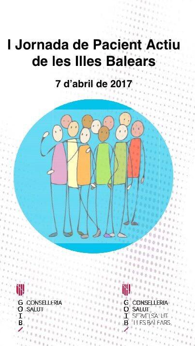 """Un #FFpaciente a I Jornada Paciente Activo que se celebra hoy en Baleares """"un paciente informado es un paciente con mejor salud""""  #1jpactib https://t.co/RUQgtQyfsO"""