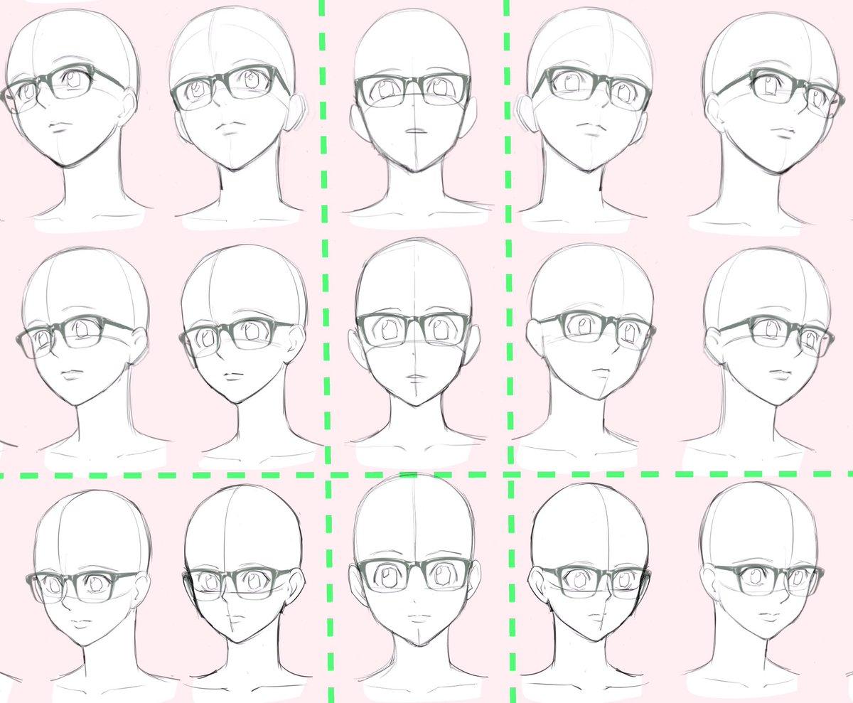 吉村拓也fanboxイラスト講座 On Twitter メガネ描くのが苦手な人
