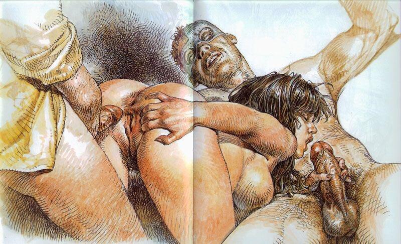 топ галерей рисованного порно