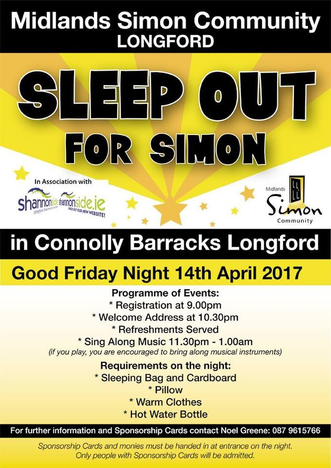 "Midlands Simon on Twitter: ""Would you like to Sleep out for Simon ..."