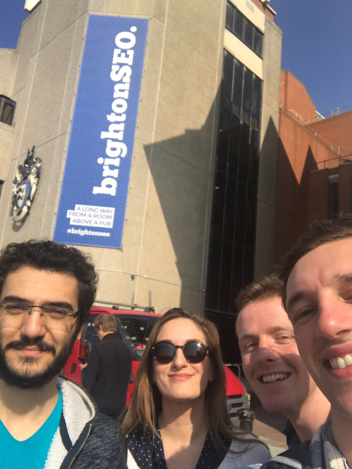 Team PD representing at #BrightonSEO today! Great day for it. https://t.co/l4rlO9gLBQ