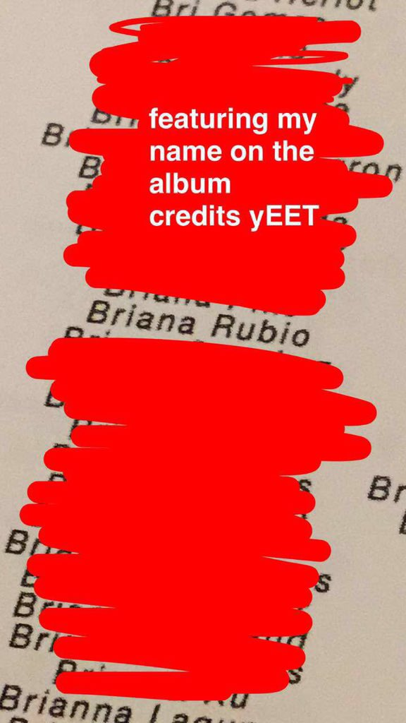 my name is on the maine's album credits this is my longest yeah boy ever