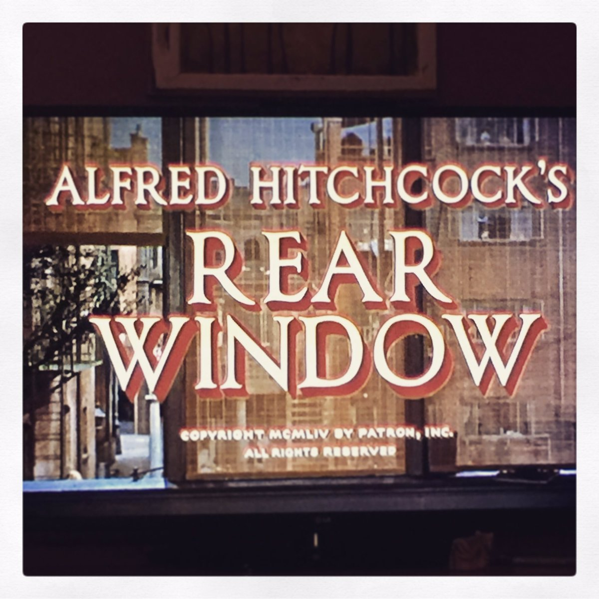 Watching one of my favorite all time films #rearwindow #respecttheclassics