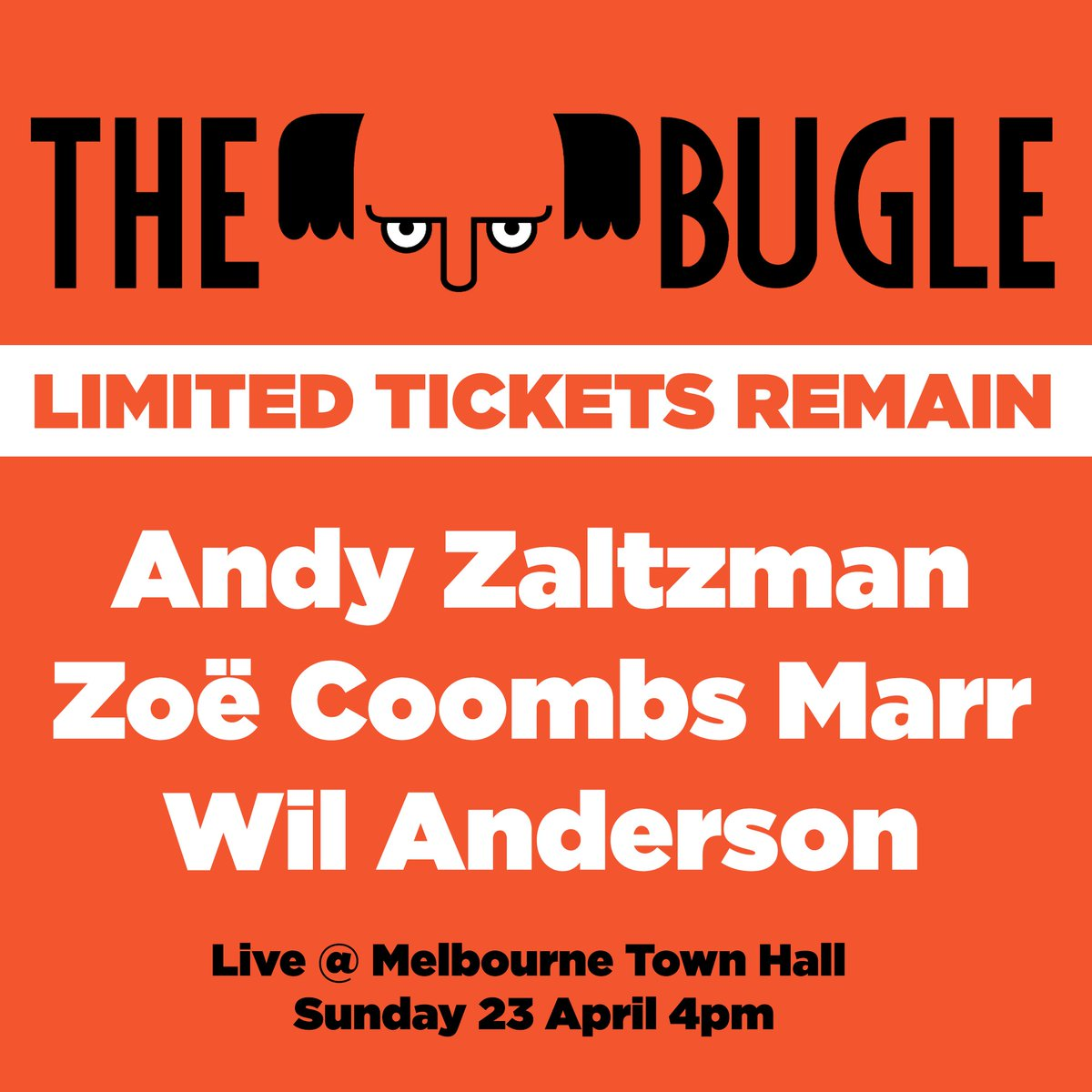 zoe coombs marr zoecoombsmarr twitter some very special guests at tomorrow s live recording of global smash hit podcast the bugle don t miss this one bit ly micfbuglelive