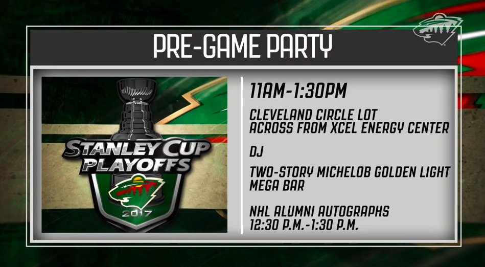 🎥 @mnwildvision has your pre-game party info and so much more on Game 5 → ow.ly/PlR230b4irK #MINvsSTL