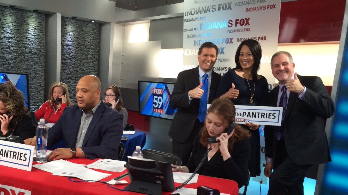 You did it! Our @FOX59 viewers more than doubled our goal donating &gt;175k meals! #PackThePantries #DanFanAndTheWeatherman<br>http://pic.twitter.com/yUwuUU0Ukm