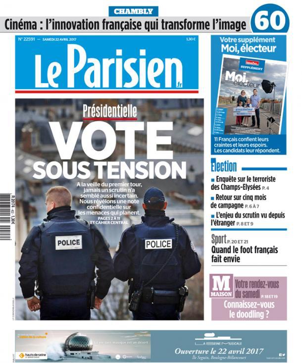 """Du titre du #Parisien, on retiendra le premier mot : """"Vote""""! pic.twitter.com/QD3HuM9UP4"""