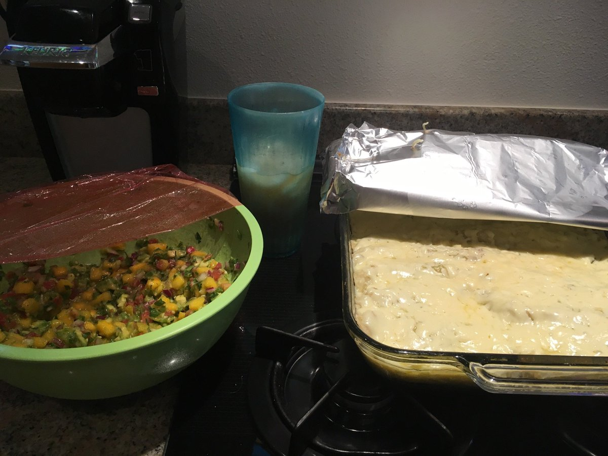 Just sent this picture to my wife with the caption 'wishing you were here' and I'm pretty sure it won't lead to divorce? (Pan is enchiladas)
