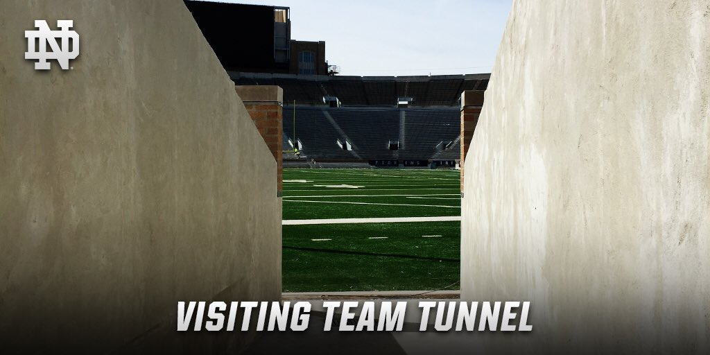 Notre Dame Football On Twitter What Will Visiting Team See Before Entering Notre Dame Stadium For 256th Straight Sellout Check Out The New Visitors Tunnel In Ne Endzone Https T Co 0spophlruc