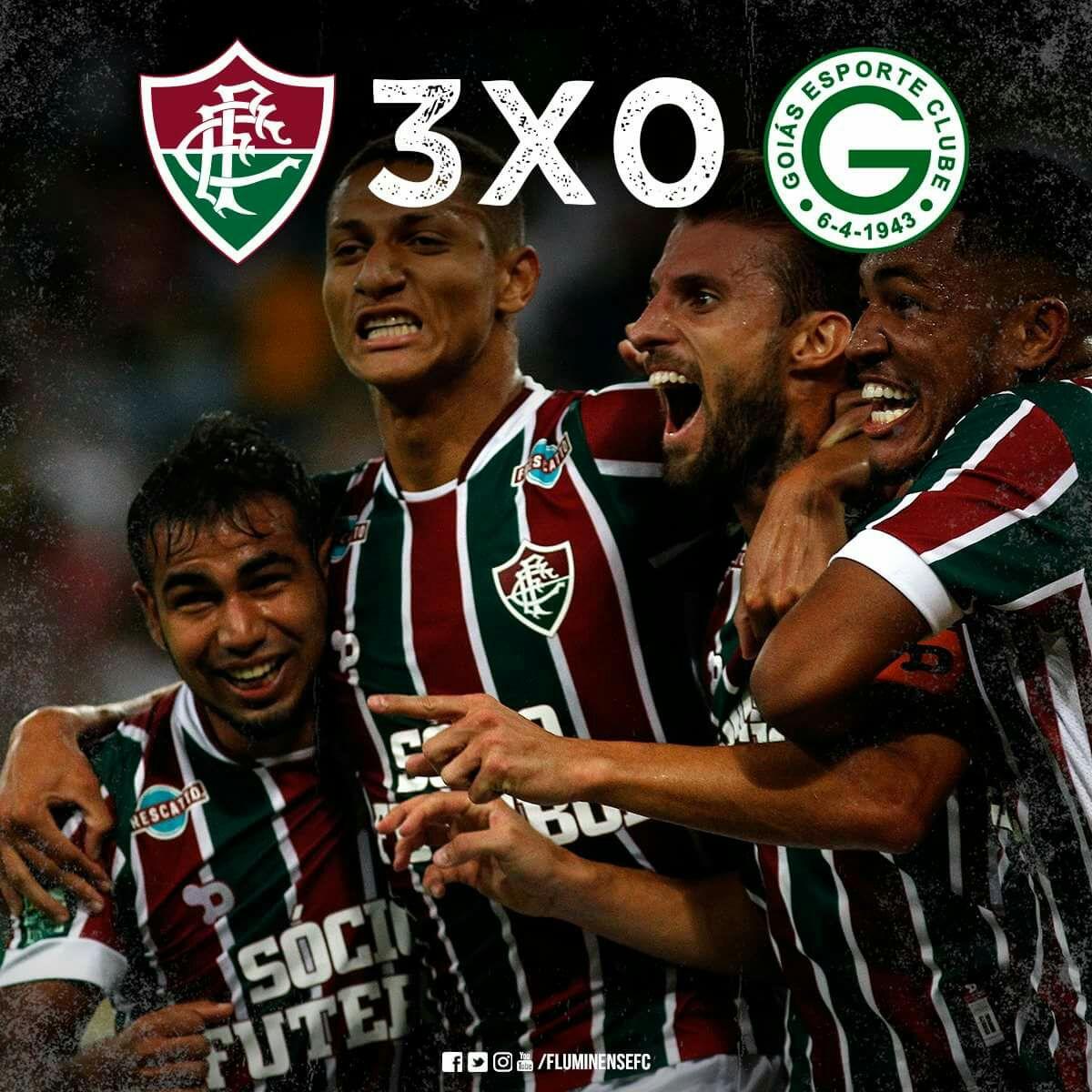 A VAGA É NOSSA! Fluzão vence o Goiás por 3 a 0 e se classifica para as oitavas de final da Copa do Brasil. Gols: Henrique, Nogueira e Pedro