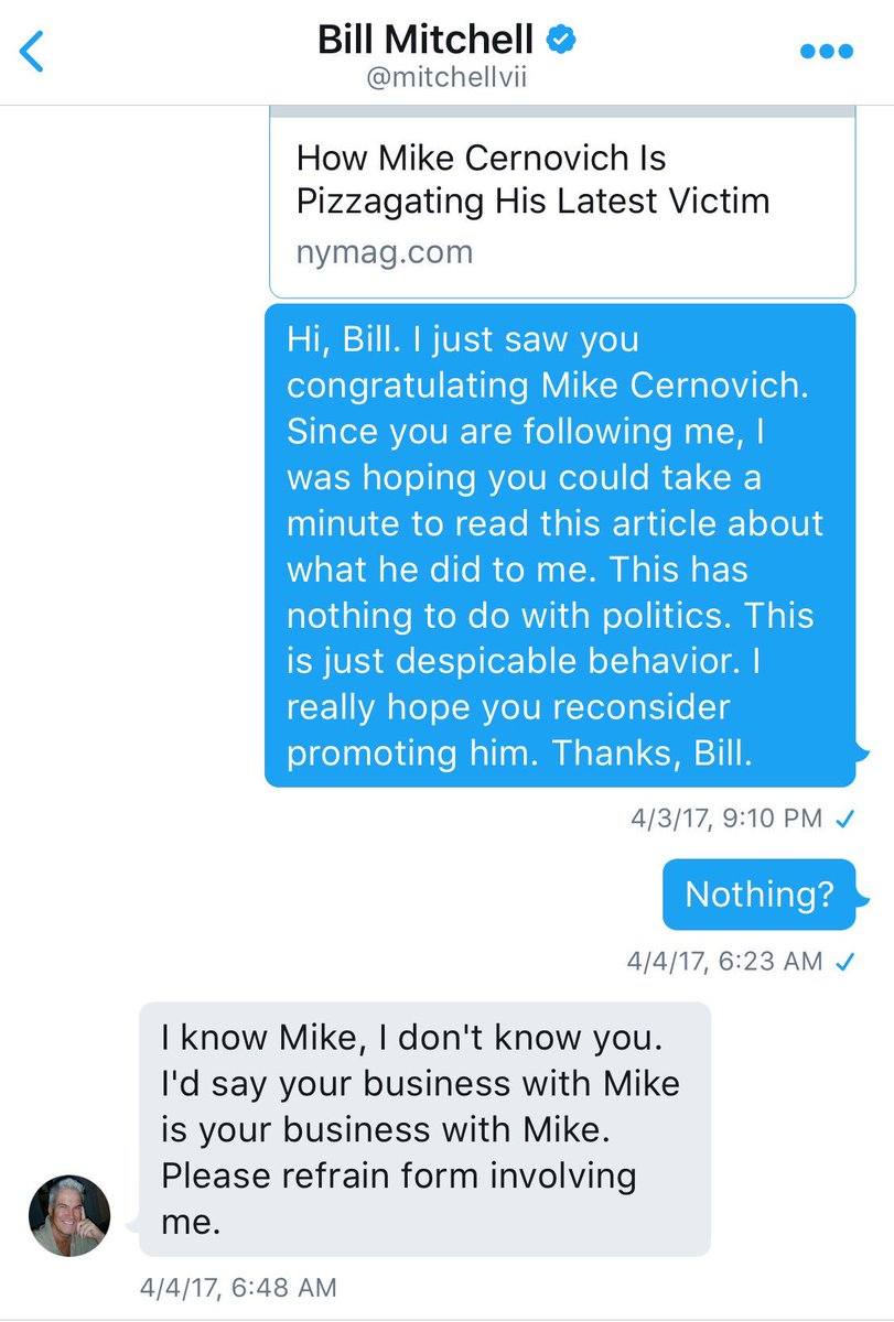 'I know Mike.' -@mitchellvii You can lead a horse to water, as they say...