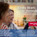 Don't miss @KirstyWark on @BBCOne tonight at 10.45pm #TheMenopauseAndMe feat. BMS Chairman Dr Heather Currie #talkmenopause
