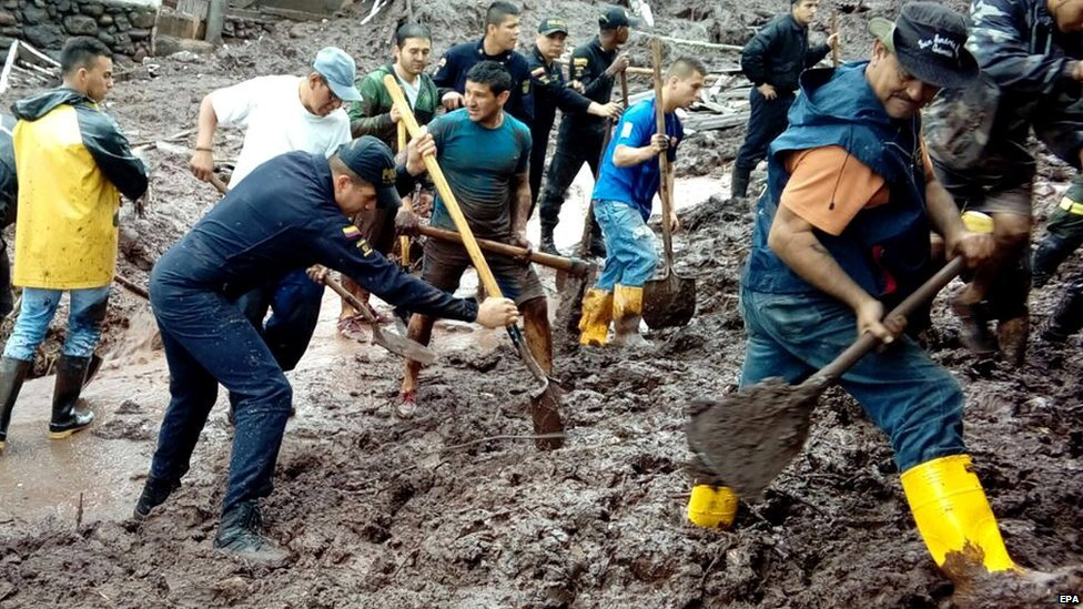 Colombia: 16 killed by a mudslide in the city of Manizales