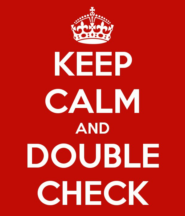Image result for double check