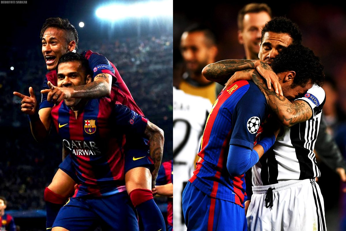 BEST FRIENDS Play together, Laugh together, cry together; because THEY can&#39;t be separated by teams. #Neymar #DaniAlves <br>http://pic.twitter.com/X1HQ9WZUOT