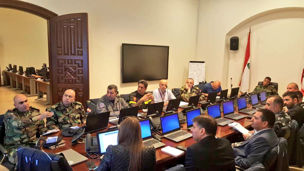 Coordination meeting at the National Operation Room #GrandSerail in preparation for the field simulation in #Baalbek #Hermel @UNDP_Lebanon<br>http://pic.twitter.com/ly8WIMX4Fx