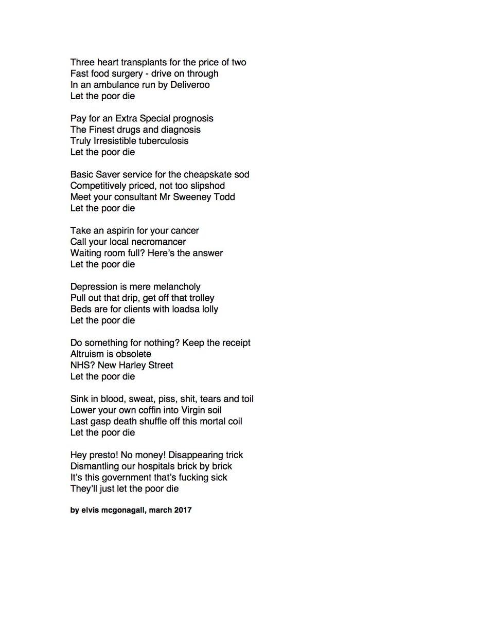 ambulances poem