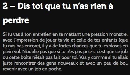 Résolution du jour : dédramatiser les entretiens   Les bons conseils @Monkey_Tie :  https:// blog.monkey-tie.com/entretien-4-as tuces-etre-hyper-relax  …  @FrancoisBeclin #VendrediLecture pic.twitter.com/U862ZZ3zxY