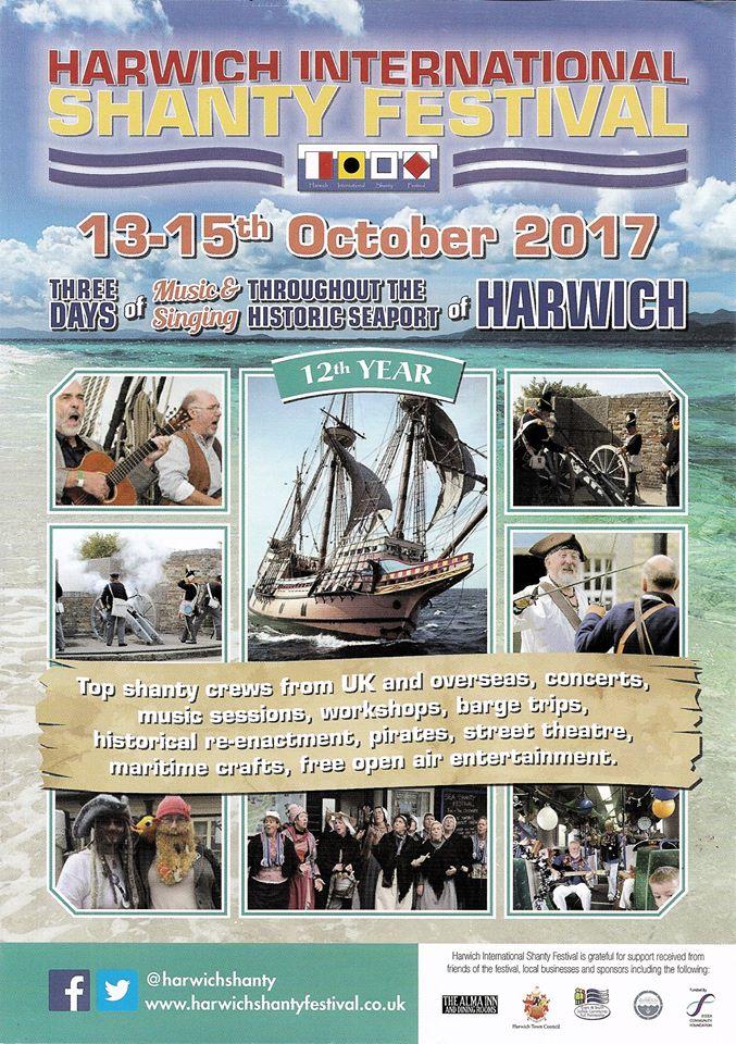 Harwich Sea Shanty Festival flier