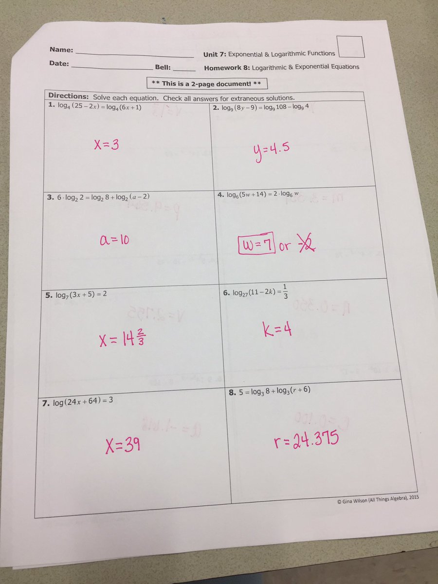 Gina wilson all things algebra 2016 unit 1