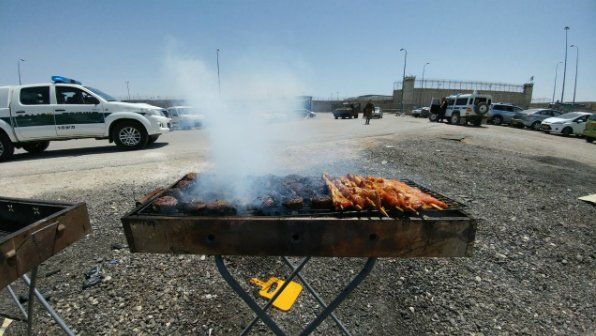 Far-right Israeli activists held a BBQ in front of the Ofer military prison in the West Bank to taunt hunger-striking Palestinians