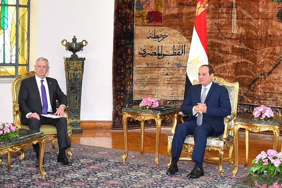 Sisi receives US Defense Secretary
