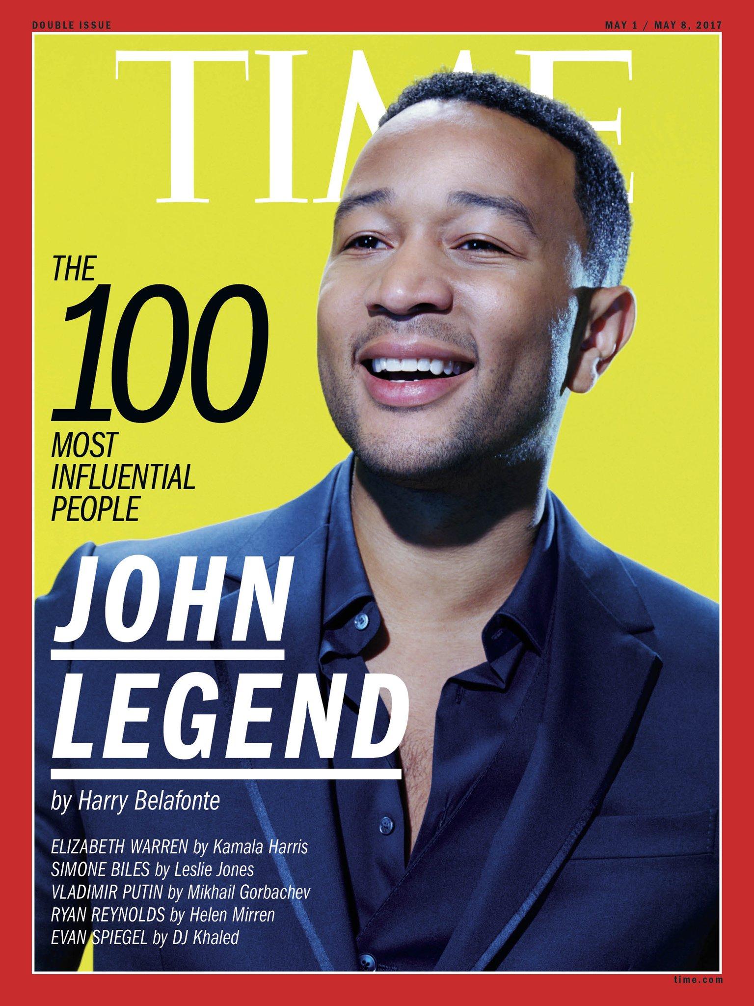 """.@JohnLegend uses his platform to push for meaningful social change,"" writes @HarryBelafonte #TIME100 https://t.co/60uj29KBC3 https://t.co/mC5mlrEr9R"