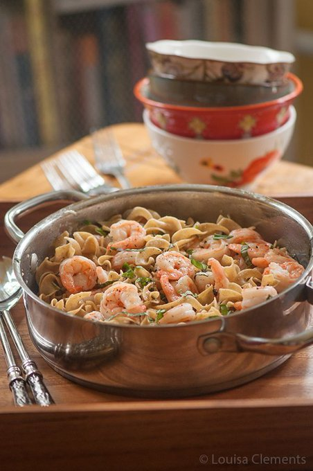 Pasta with Shrimp and Basil — Living Lou