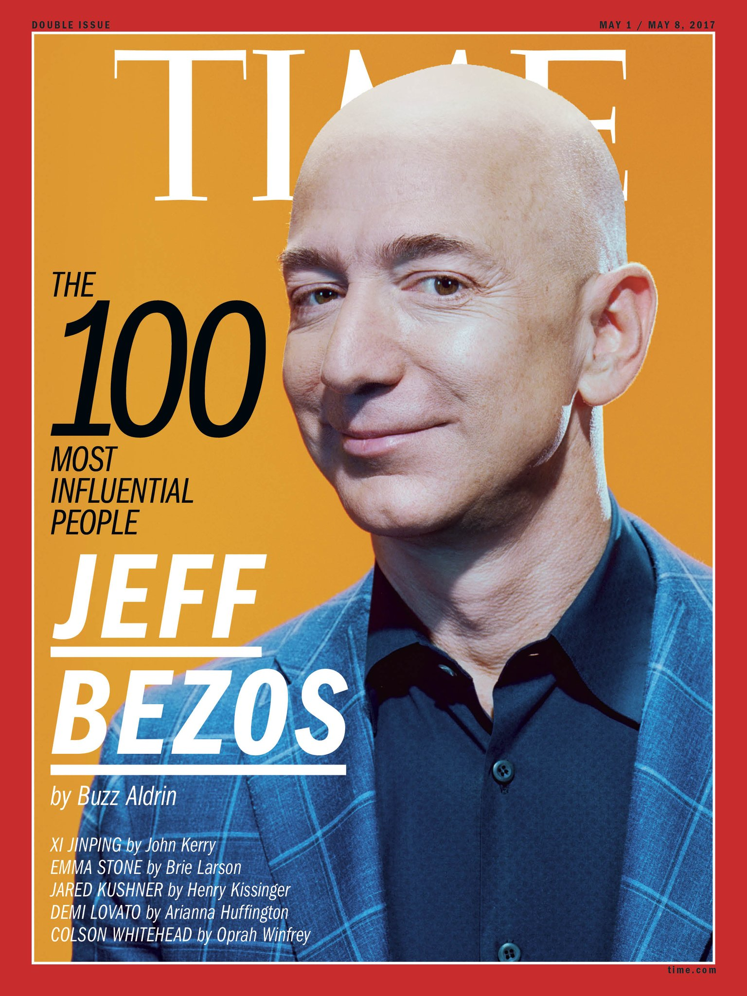 "Find out why @TheRealBuzz calls @JeffBezos ""a serial innovator"" #TIME100 https://t.co/4YrL65A5kj https://t.co/RQ0vClh3YM"