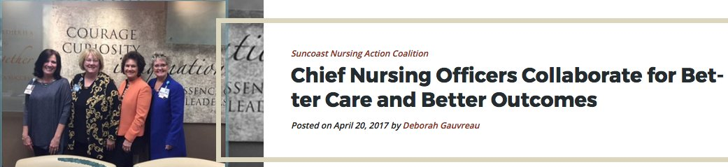 Chief Nursing Officers collaborate for better care & outcomes https://t.co/Hfqyf69c2g @SNAC4FL @FlaAction @Campaign4Action @ThePattersonFdn https://t.co/ZH7JTq10d7