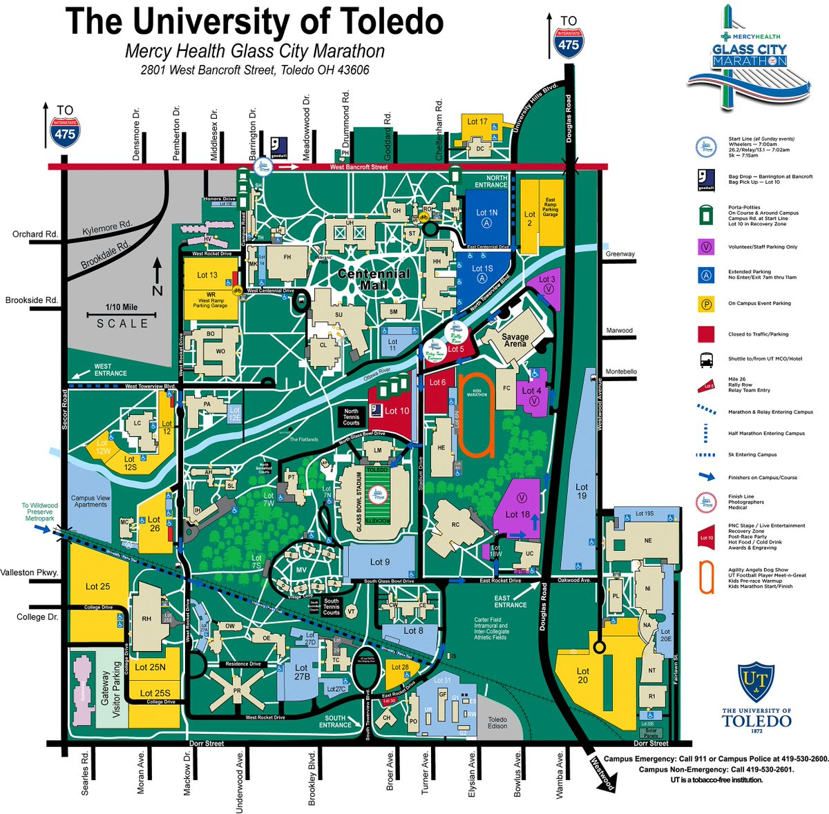 Utoledo Police On Twitter Many Campus Roads Will Also Be