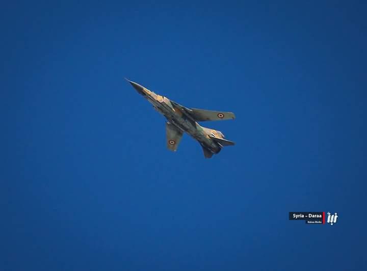 Daraa: Rebel territory (city and CS) also bombed by SyAF: Mig-23, Mi-25 and Ka-28.