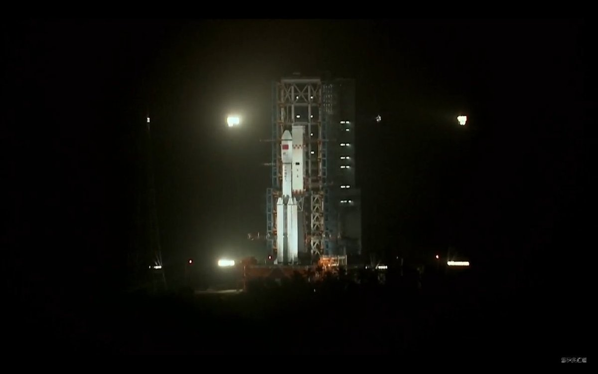 China Space CZ7 carrying Tianzhou1 launched from Wenchang SLC Hainan