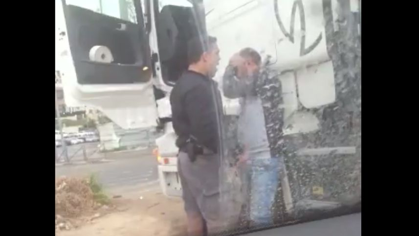 .@IL_police has fired policeman caught on video violently beating Palestinian truck driver in east Jerusalem in March