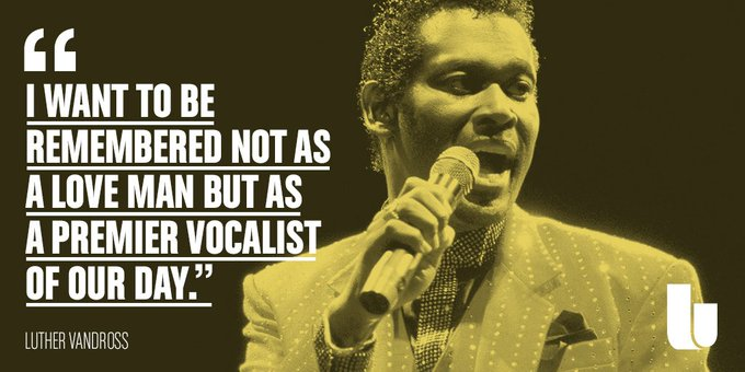 When this man\s music plays, you cannot help but smile. Happy birthday, Luther Vandross; we miss you.