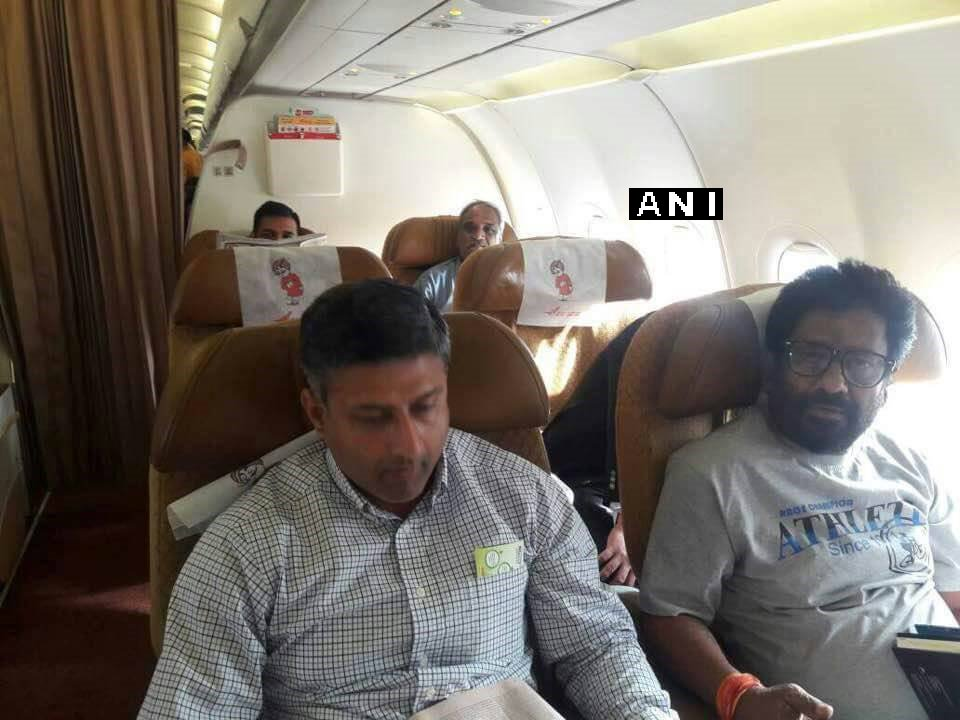 Shiv Sena MP Ravindra Gaikwad flies Air India (Hyderabad to Delhi) for the first time since assaulting an AI staff member last month