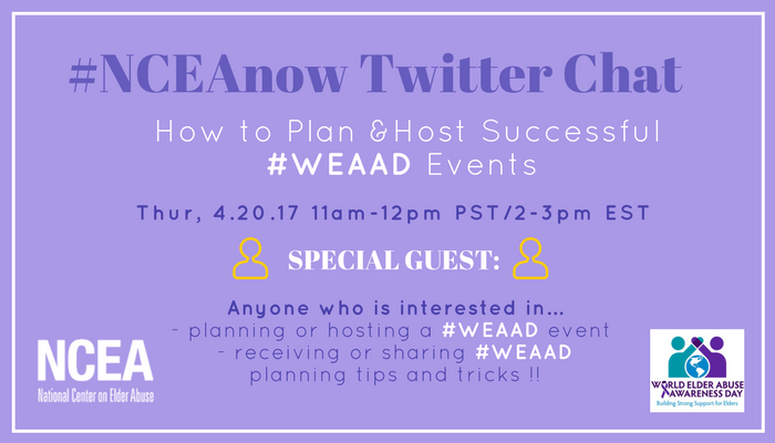Thumbnail for 4/20/17 #NCEAnow Chat : WEAAD Planning