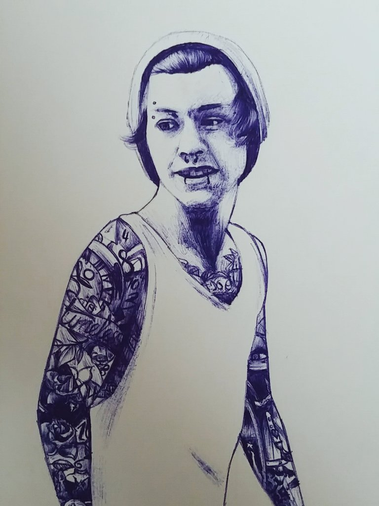 Drawing of @Harry_Styles as a punk #onedirection #harry #styles #drawing #art #artistpic.twitter.com/wKQ9kPoI6D