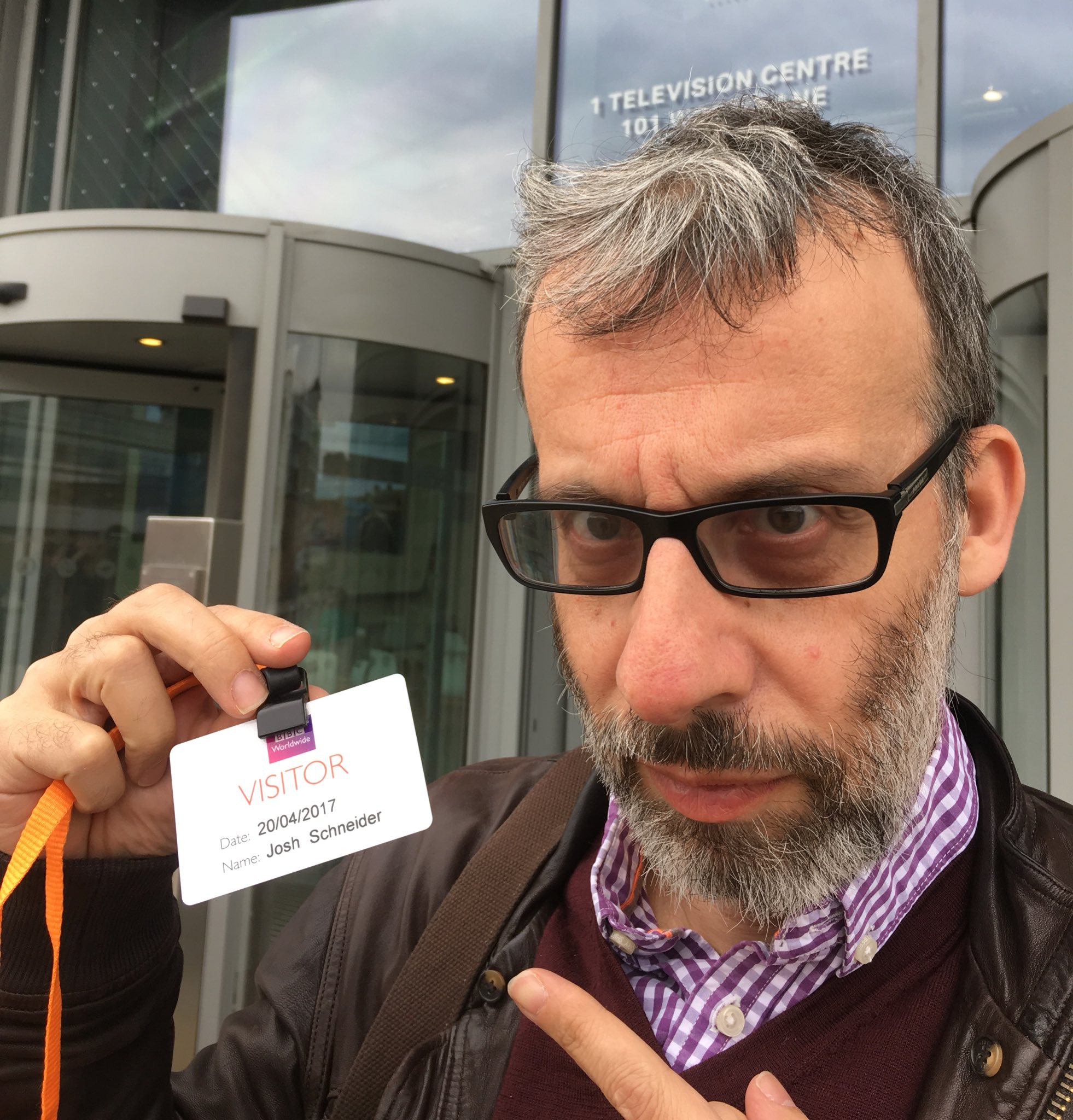*arrives at BBC* Yes, I'm David Schneider, director of the sitcom Josh. You may have heard of me... https://t.co/81x4Pqk4mf