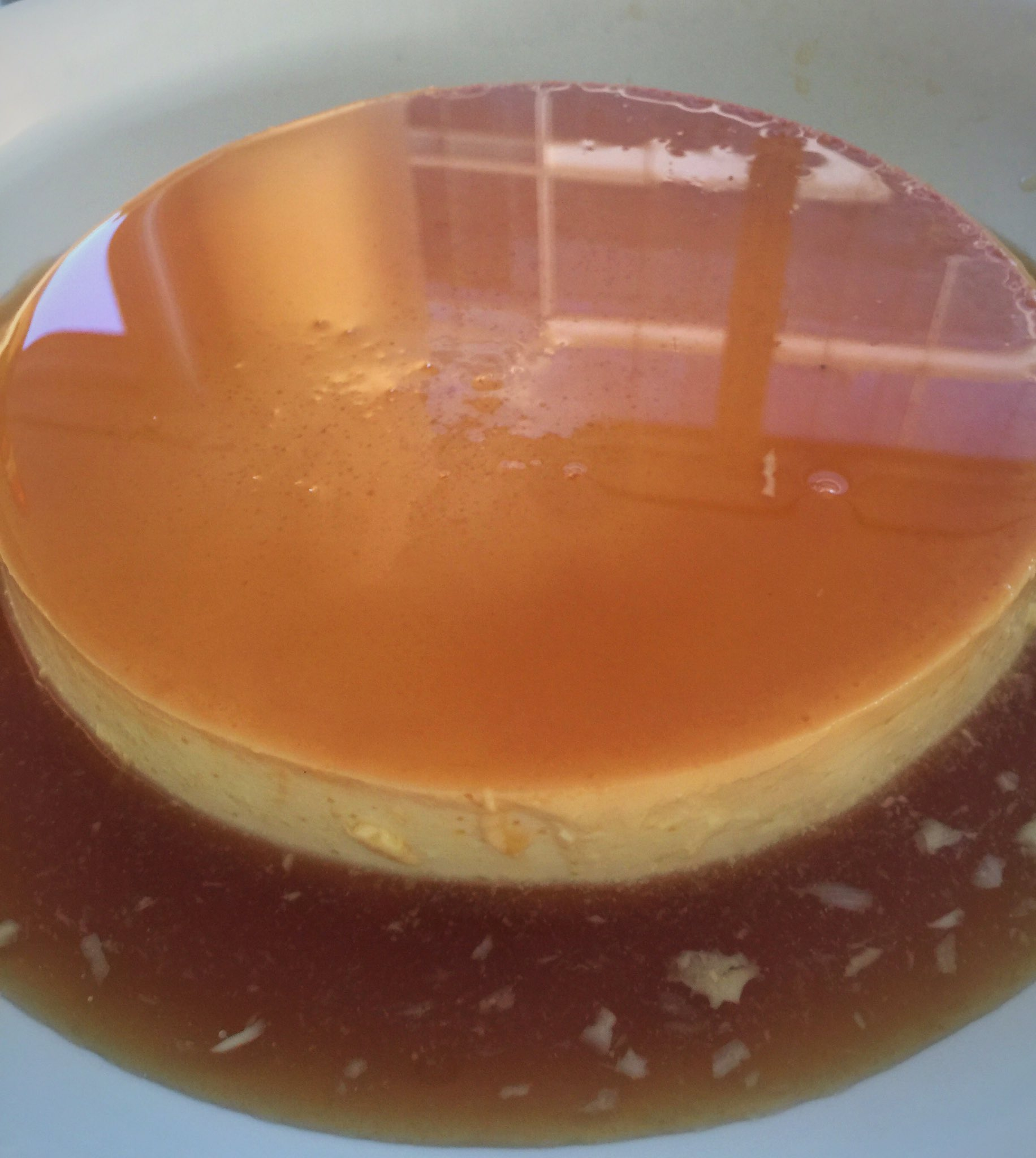 The result of Mum's Creme Caramel. https://t.co/VNYSNhocrS