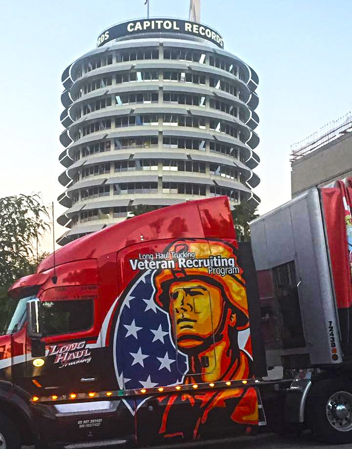 Company Driver Terry Anderson unloading in Hollywood #RockStarStatus #WeHireVets