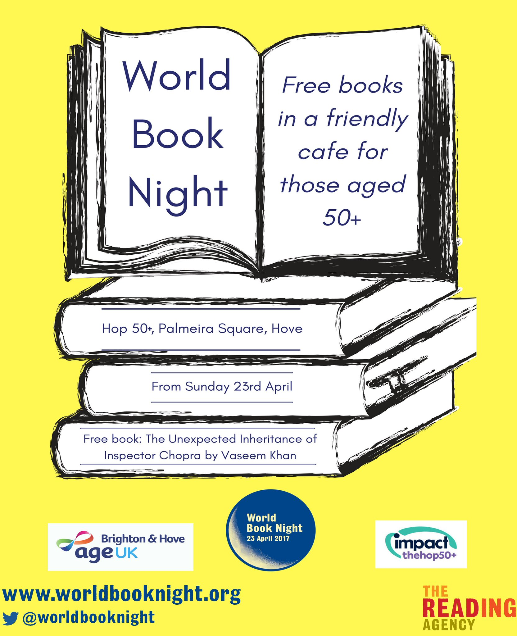 Great opportunity on Sunday 23rd to pick up a free book, Age UK Brighton & Hove info and to find out about @Impactsussex Hop 50+ ! https://t.co/SMJRGkNSBy