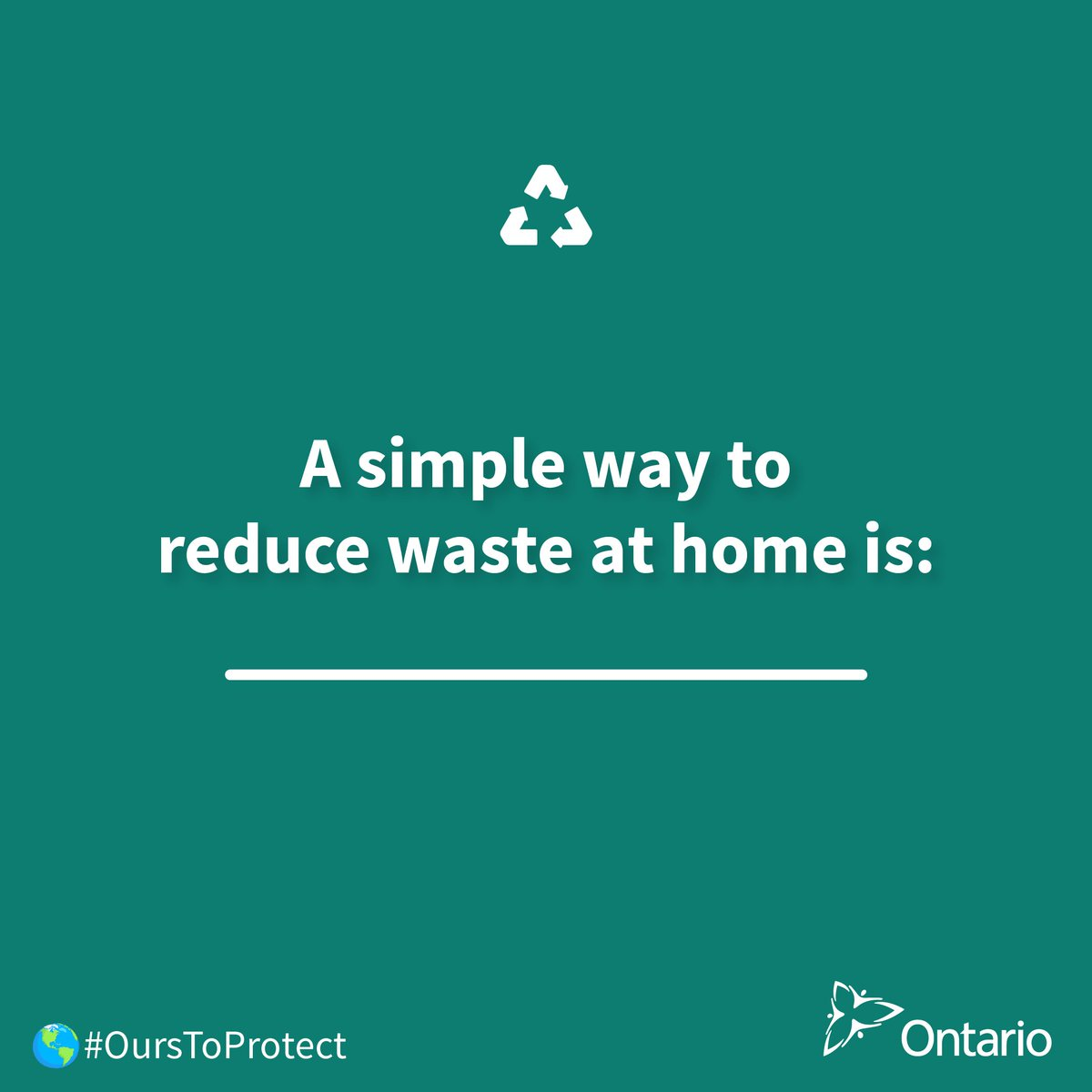 Environment ontario on twitter earthday in t minus 2 days let a white icon of the recycling symbol on a green background below the icon there biocorpaavc Choice Image