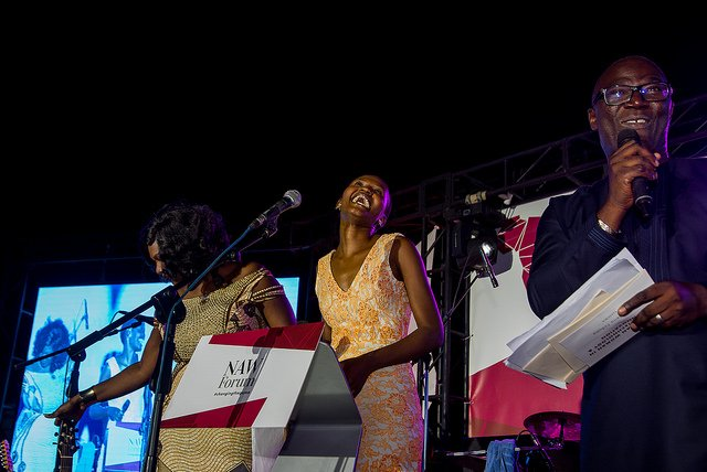 The extremely delightful @vivianonano having a gooood laugh @newafricanwoman 2017 #NAWAwards &amp; Gala Night in #Senegal #ChangingTheGame<br>http://pic.twitter.com/50nhI4T4rj