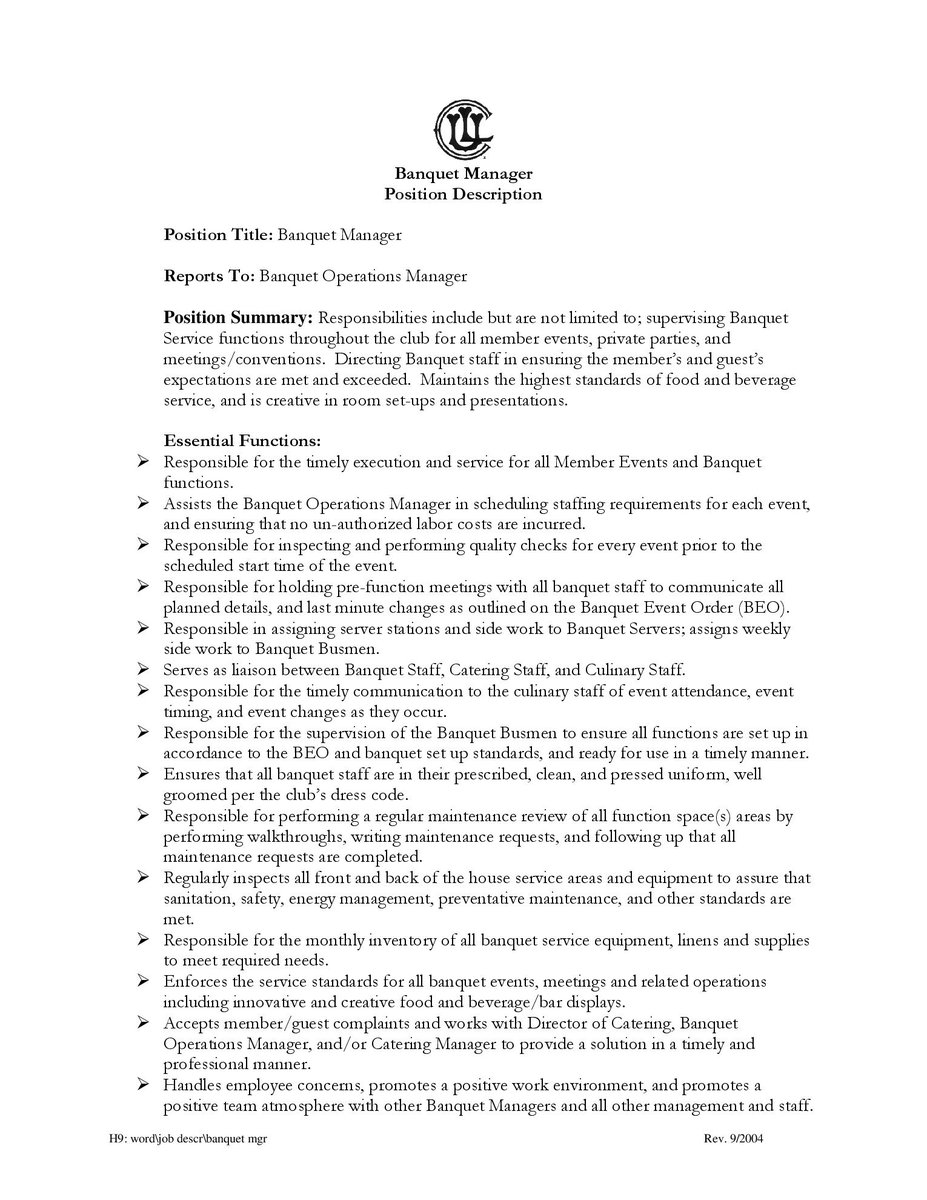DePaul Hospitality DPUHospitality – Plant Manager Job Description
