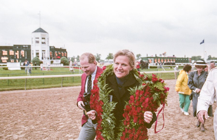 The Hancock&#39;s celebrating their Derby win.   http://www. thetonyleonardcollection.com  &nbsp;    #runfortheroses #kyderby #sundaysilence #churchilldowns <br>http://pic.twitter.com/wjHb6zYYPc