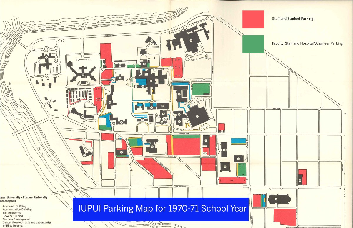 Iupui Parking On Twitter Tbt Parking Map From The 70s