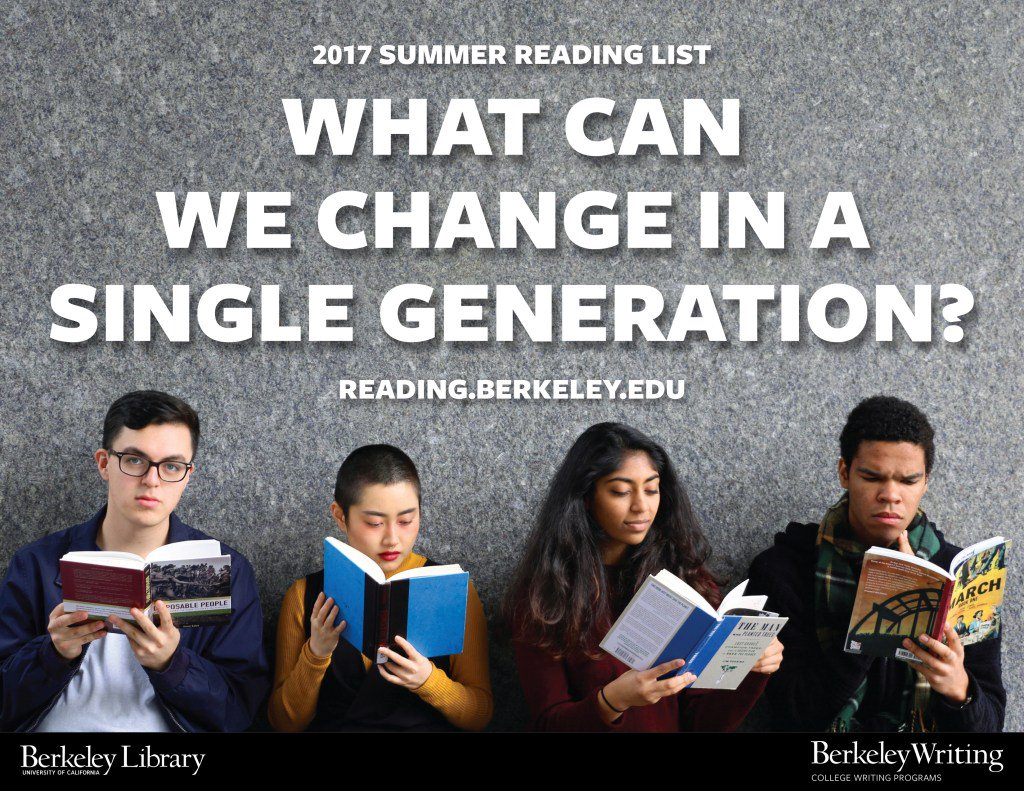 Summer Reading List for @UCBerkeley freshmen and transfers. Enjoy!  #InThisGen #UCBerkeley https://t.co/AqXu3o0boj https://t.co/IHy00mzF6D