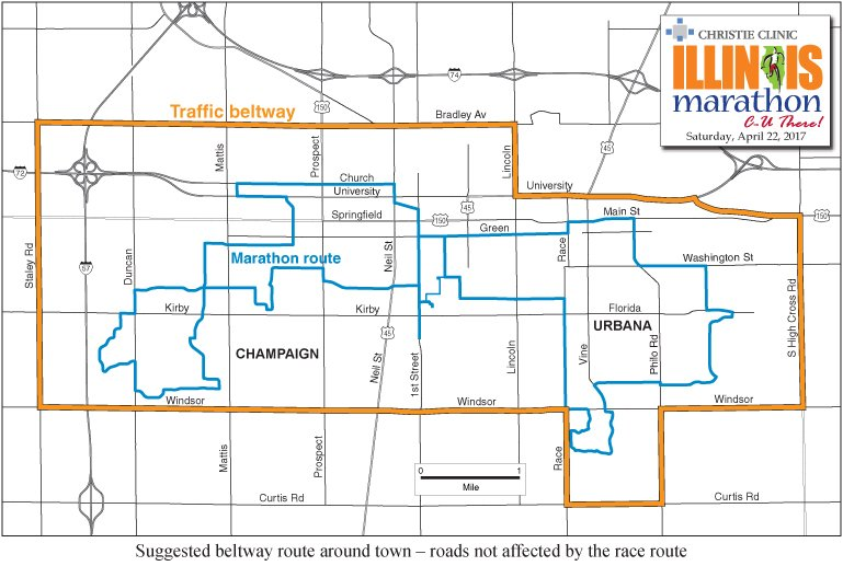 Champaign Map on