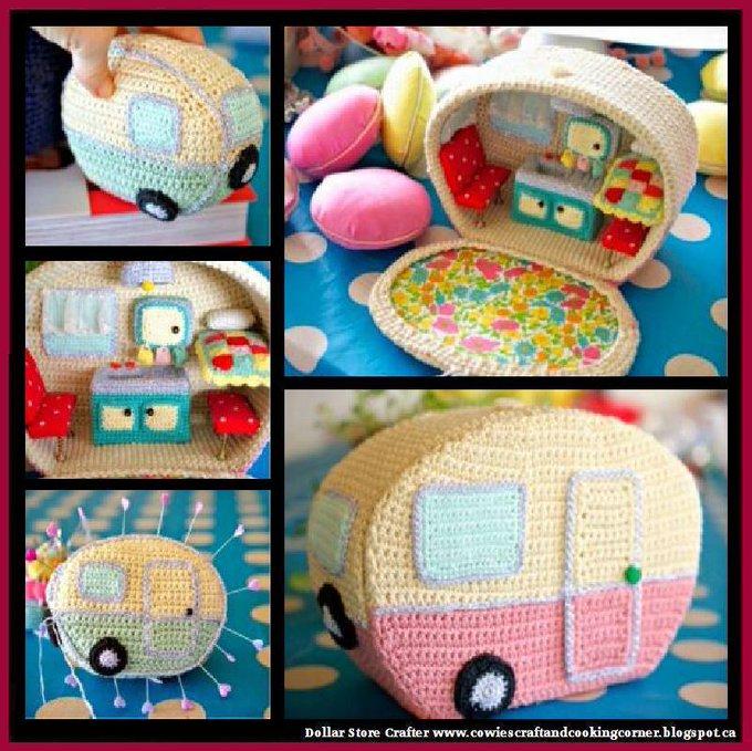 Crochet Vintage Caravan / Camper (FREE PATTERNS)
